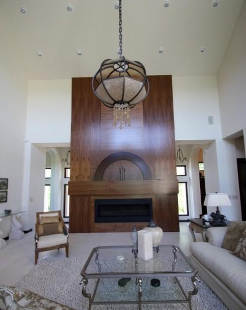 деревянный портал камина