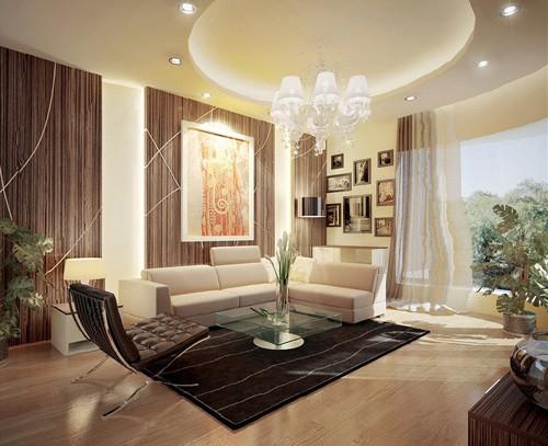 красивая гостиная в современном стиле