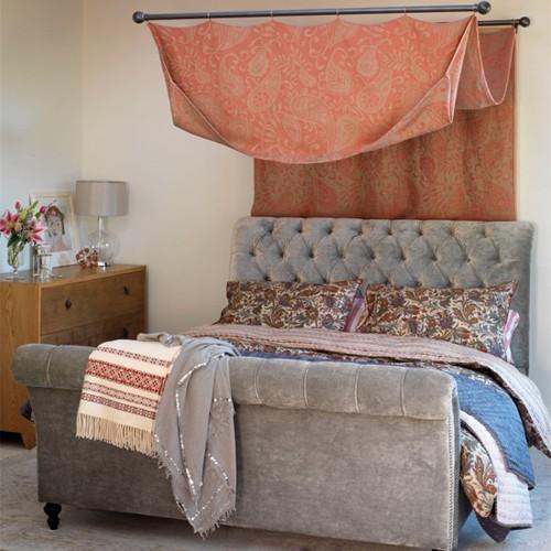 спальня с элементами в стиле кантри