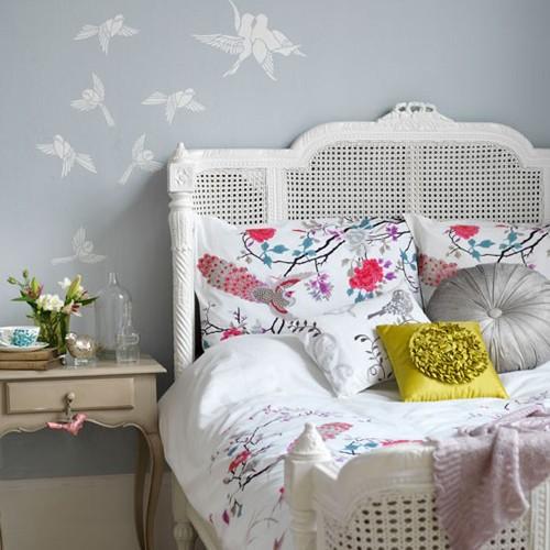 декор спальни в стиле кантри