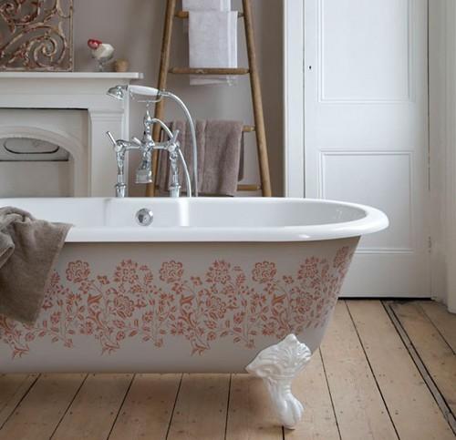 стиль кантри в интерьере ванной