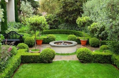 живая изгородь в дизайне двора