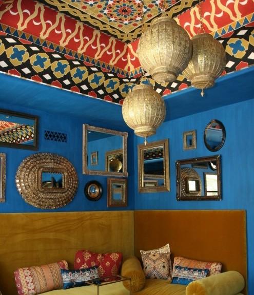 роспись потолка в марокканском стиле