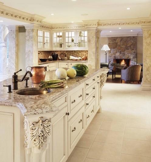 декоративный карниз в интерьере кухни