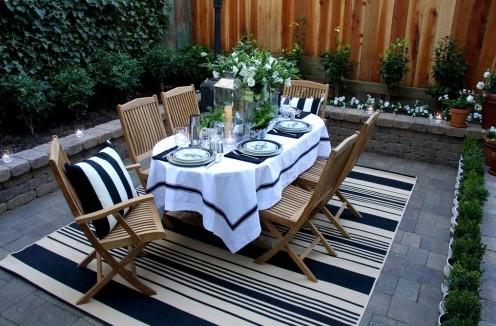 мини сад с летней столовой