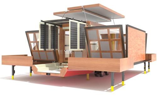 автоматическая трансформация дома на колесах