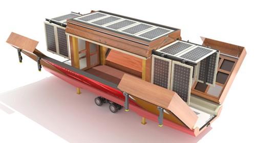 дом на колесах с солнечными батареями