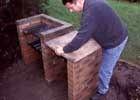 построить самостоятельно мангал из кирпича