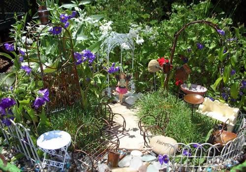 сад фей с оградой