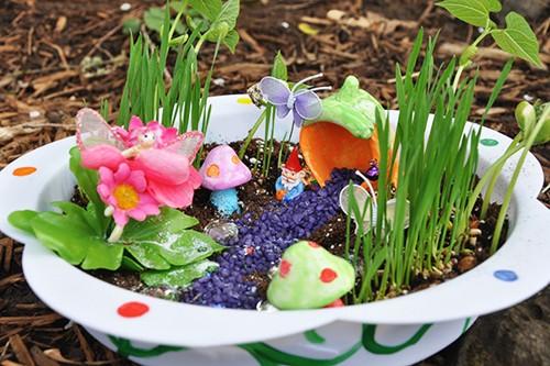 сказочный сад в старой чашке