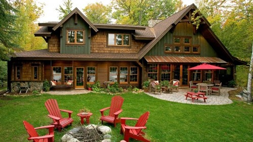 красная садовая мебель