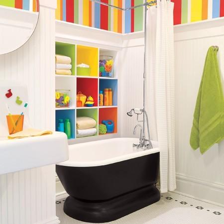 многоцветный декор ванной