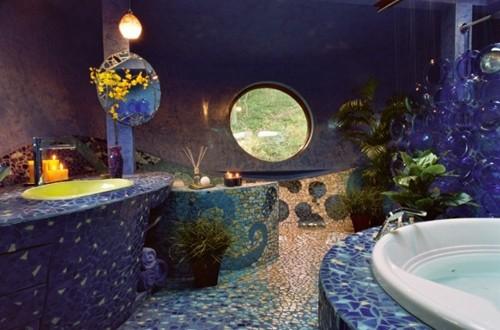 отделка ванной мозаикой