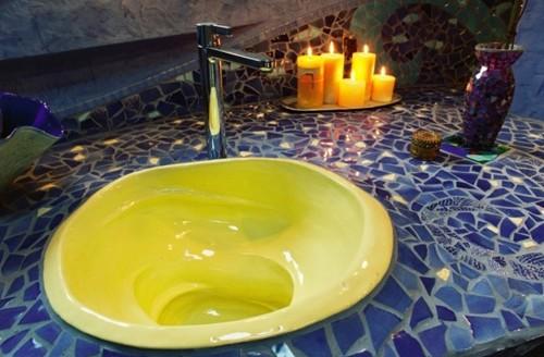 ручная мозаика в ванной