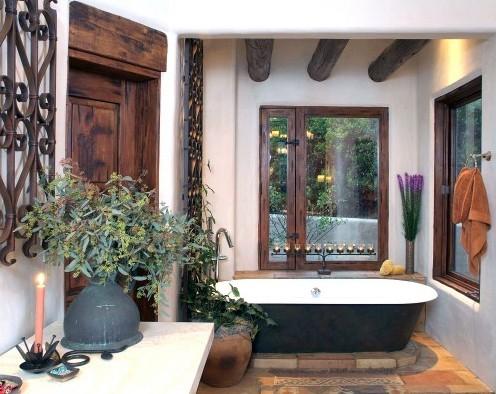 аксессуары для ванной в стиле кантри