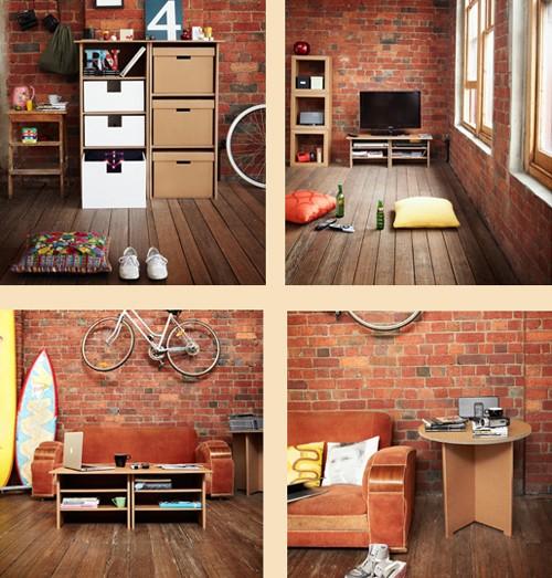 мебель для дома из картона