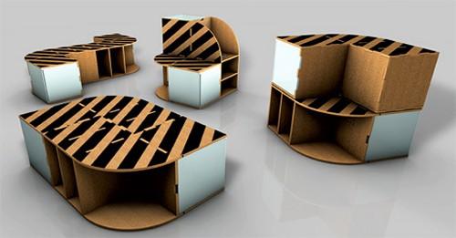 офисная мебель из картона