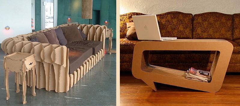 необычная мебель из картона