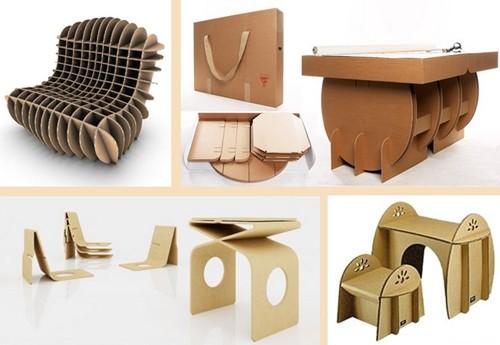 сборная мебель из картона