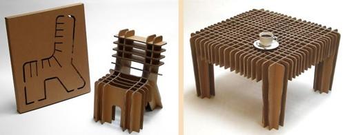 разборная картонная мебель