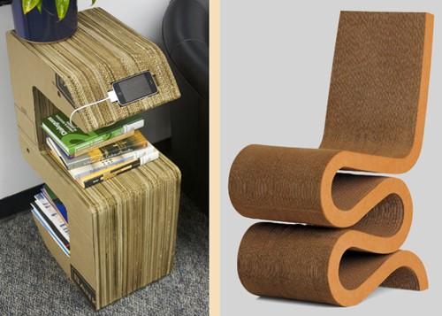 современная картонная мебель