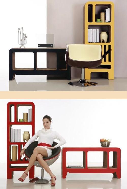 стильная мебель из картона