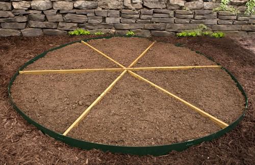 планировка сада пиццы
