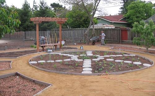 сад пиццы в ландшафтном дизайне