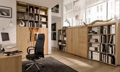 минималистический интерьер домашнего кабинета