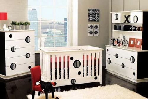 черно-белый интерьер для младенца