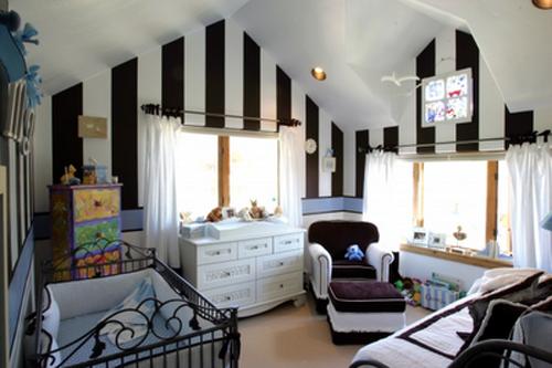 черно-белая комната младенца