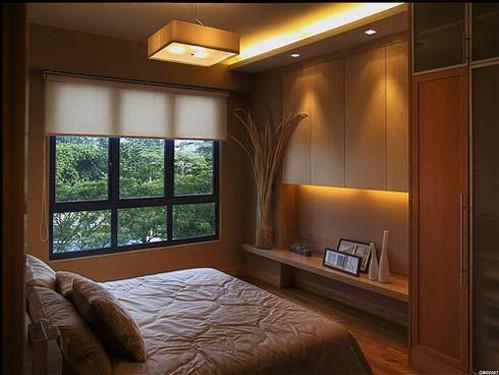 комфортный интерьер маленькой спальни