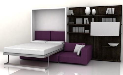 откидная кровать для маленькой спальни