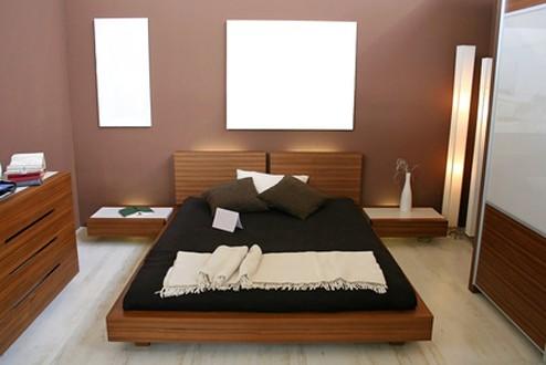 современная мебель в маленькой спальне