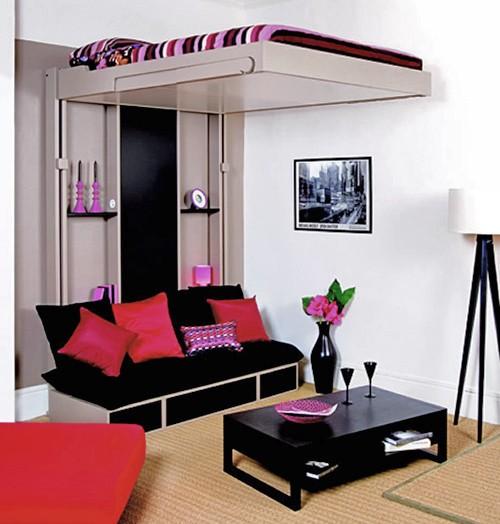 подъемная кровать для маленькой спальни