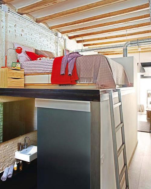 интерьер маленькой квартиры фото спальни