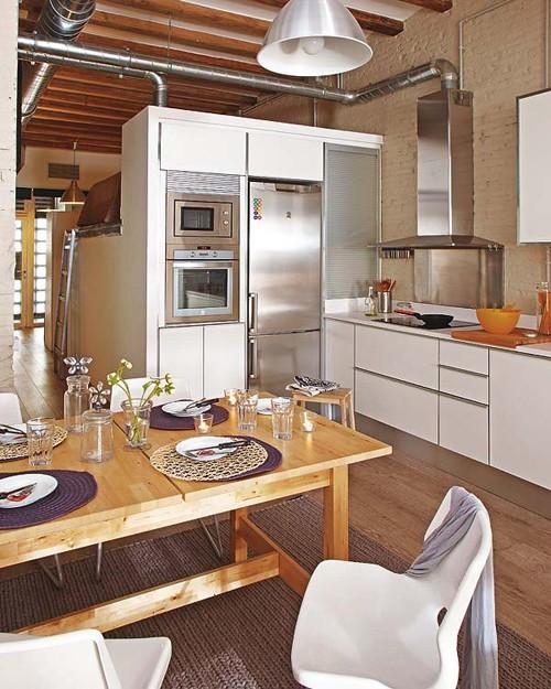 интерьер маленькой квартиры фото кухни