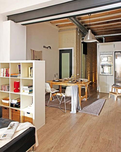 интерьер маленькой квартиры фото столовой