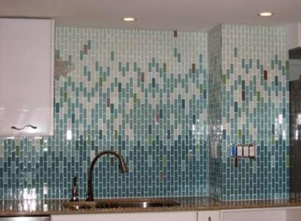 стеклянный мозаичный кухонный фартук