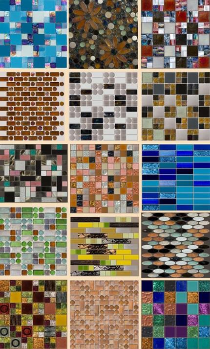 коллекция стеклянной мозаики