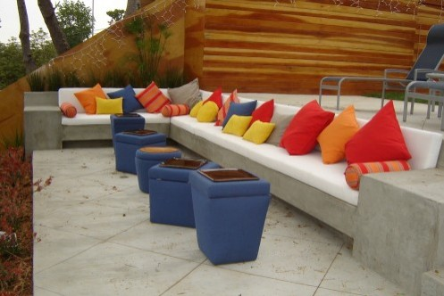 бетонная садовая скамейка