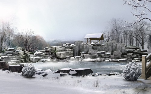 красивый зимний ландшафт