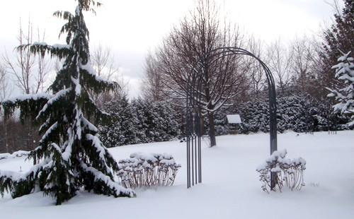 арка в зимнем ландшафте