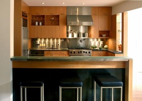 кухонная зона в частном доме
