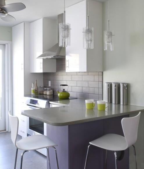 небольшая проходная кухня