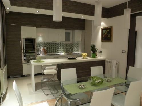открытая кухня в частном доме