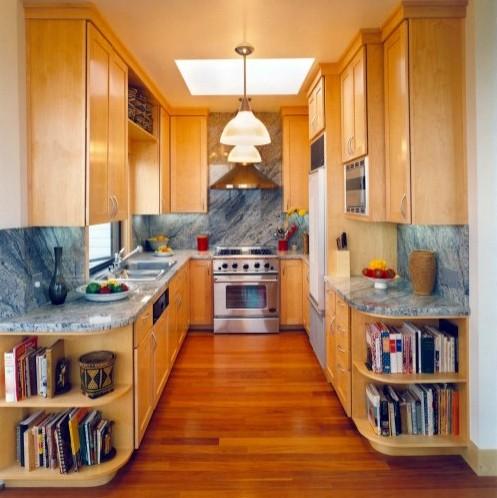 открытая кухня длинной формы