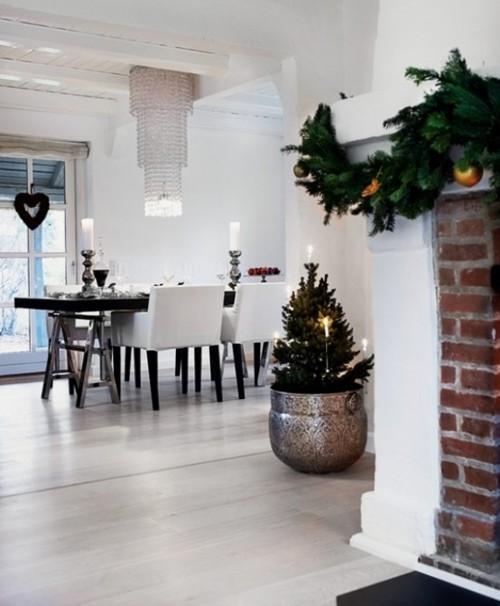 черно-белый дизайн дома