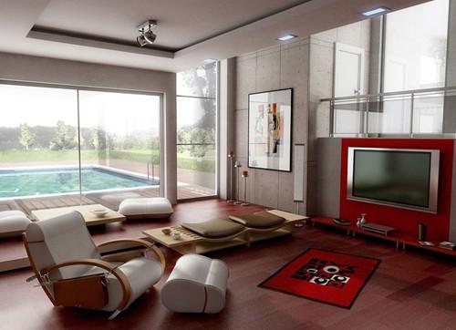 японский дизайн гостиной