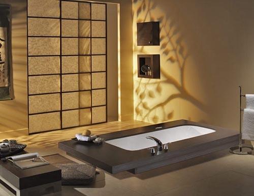 японский дизайн ванной комнаты